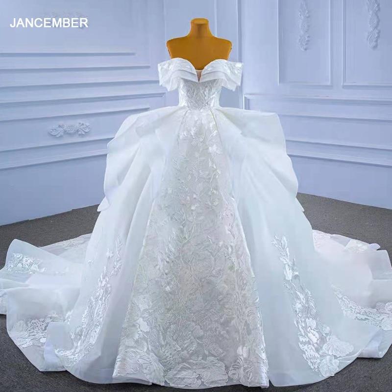 RSM67344 boho civil wedding dress luxury bride off shoulder ball gown wedding dress plus size vestido de noiva 2021 new 1
