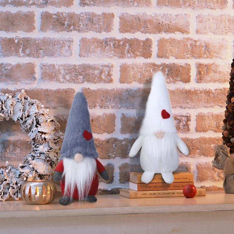 Christmas Handmade Natal Swedish Elf Toy Home Decor Santa Nisse Nordic Figurine Plush Christmas Decorations For Home Winter Tabl