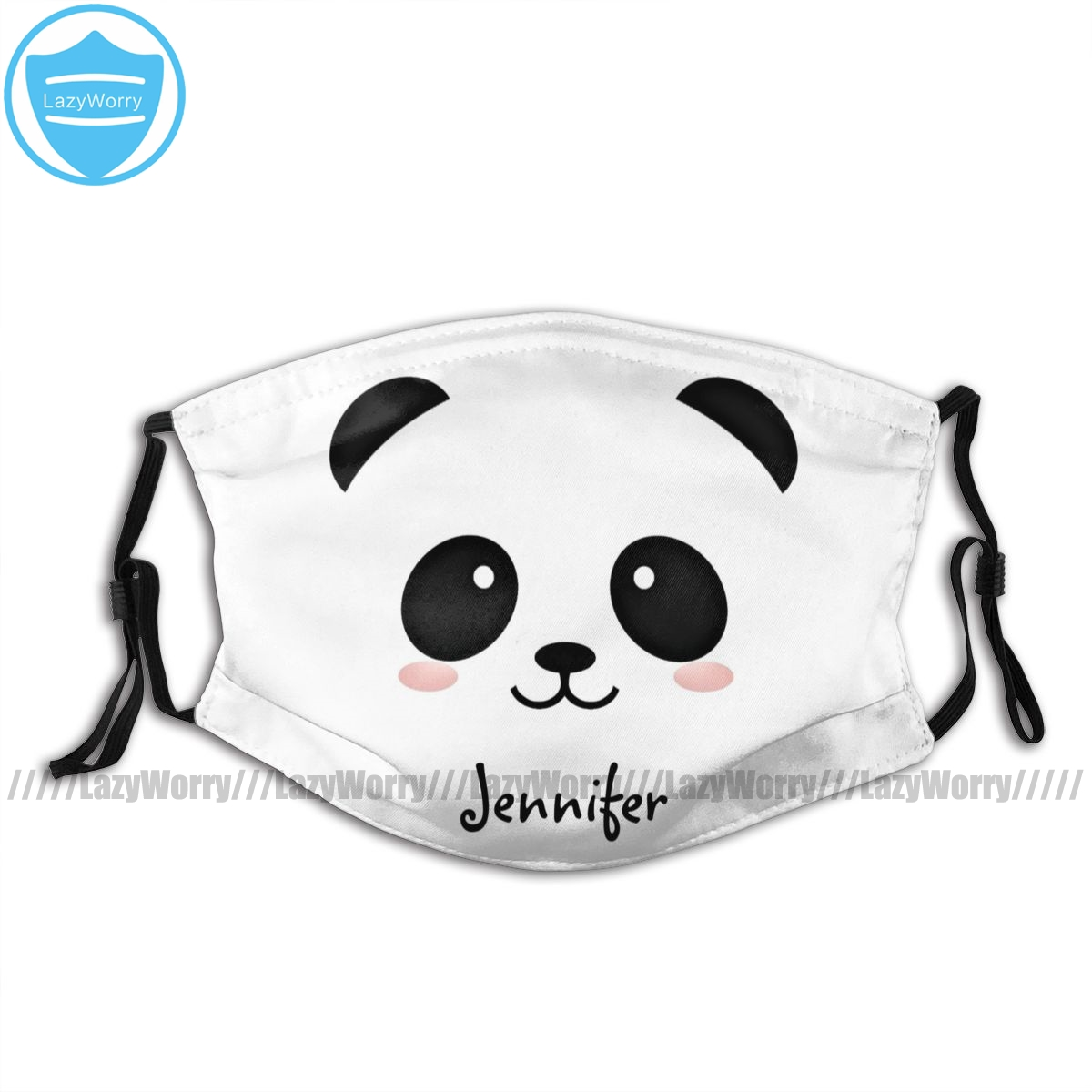 Panda Mouth Face Mask Kawaii Panda Bear Personalized Facial Mask With 2 Filters Polyester Funny Mask
