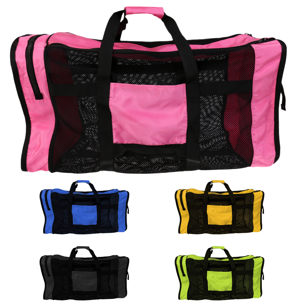 35''x16'' Large Mesh Duffel Gear Tote Bag Shoulder Bag For Scuba Diving Snorkeling Swimming Equipment Dive Bag