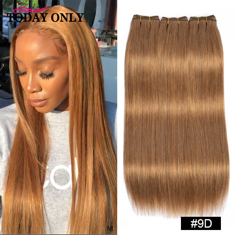 HEUTE NUR Haar Farbe Doppel Gezogen Gerade Brasilianische Menschliche Haarwebart Bundles 12A Remy Haar Extensions Ombre #3/ 8/9/burgund