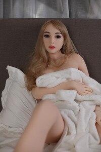 Image 1 - 165 см #26 реалистичные куклы tpe, секс куклы закрывают глаза, секс робот, взрослые игрушки для мужчин, кукла для любви, медицинская, без запаха, полностью TPE