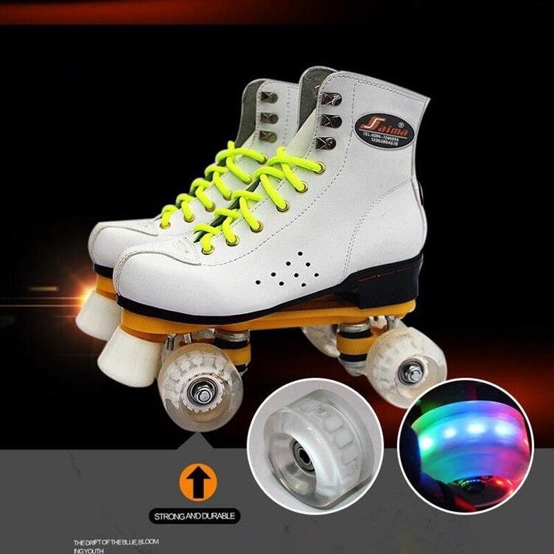 Adulto dupla fileira patins flash 4 roller
