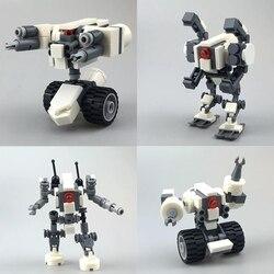 Design original mecha guerreiro blocos de construção brinquedos para crianças 7.5cm armadura robôs anime figura modelo figura ação blocos bonecas