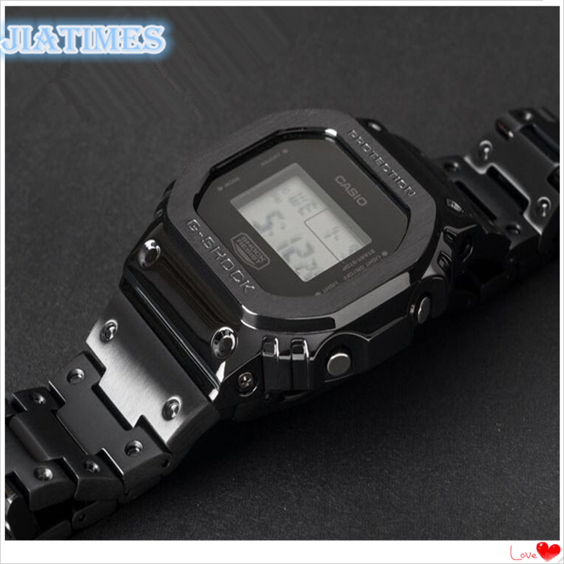 Free Shipping 1 Set 3rd Generation DW-5600 GB-5600 Stainless Steel Watch Bezel and Band Set Quick Open Style