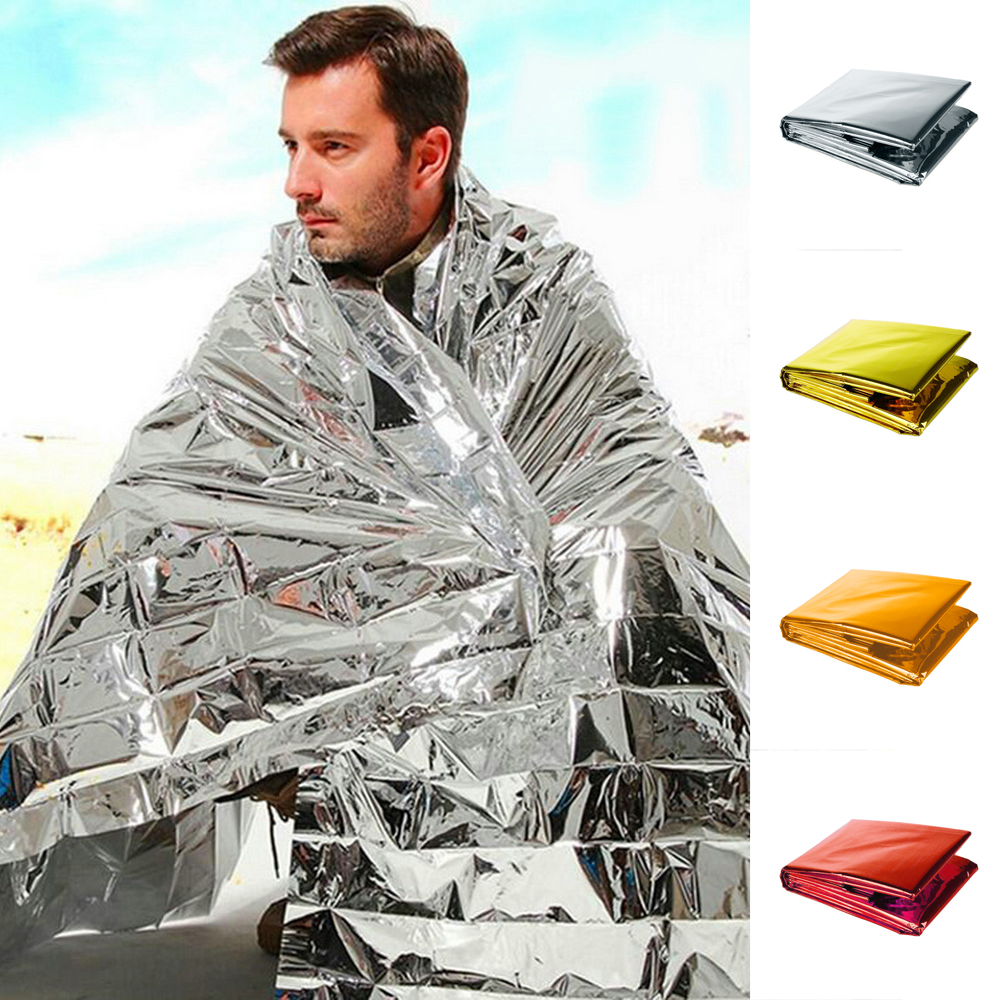 Blanket Mylar First-Aid-Kit Rescue Heat-Bushcraft Survive Warm Outdoor Camp