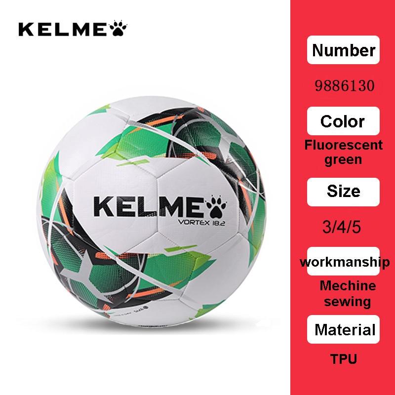 KELME Professional Football Soccer Ball TPU Size 3 Size 4 Size 5 Red Green Goal Team Match Training Balls 9886130 9