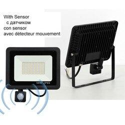 10W 20W 30W 50W 100W Светодиодный прожектор светильник 220V 240V Водонепроницаемый движения PIR Сенсор открытый уличный садовый настенный светильник пр...