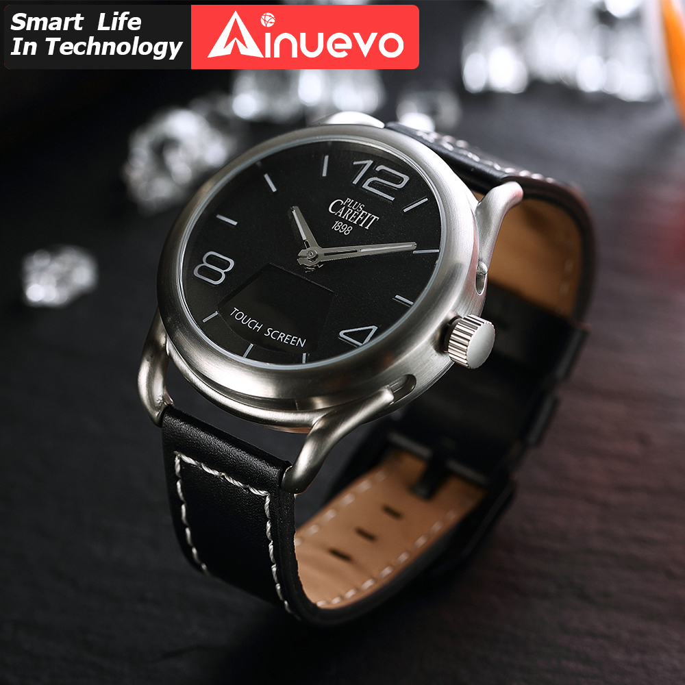 Ainuevo Man Smart Watch Air Touch Smartwatch 3ATM Waterproof Heart Rate Monitor Blood Oxygen Pressure Android IOS Sport watch image