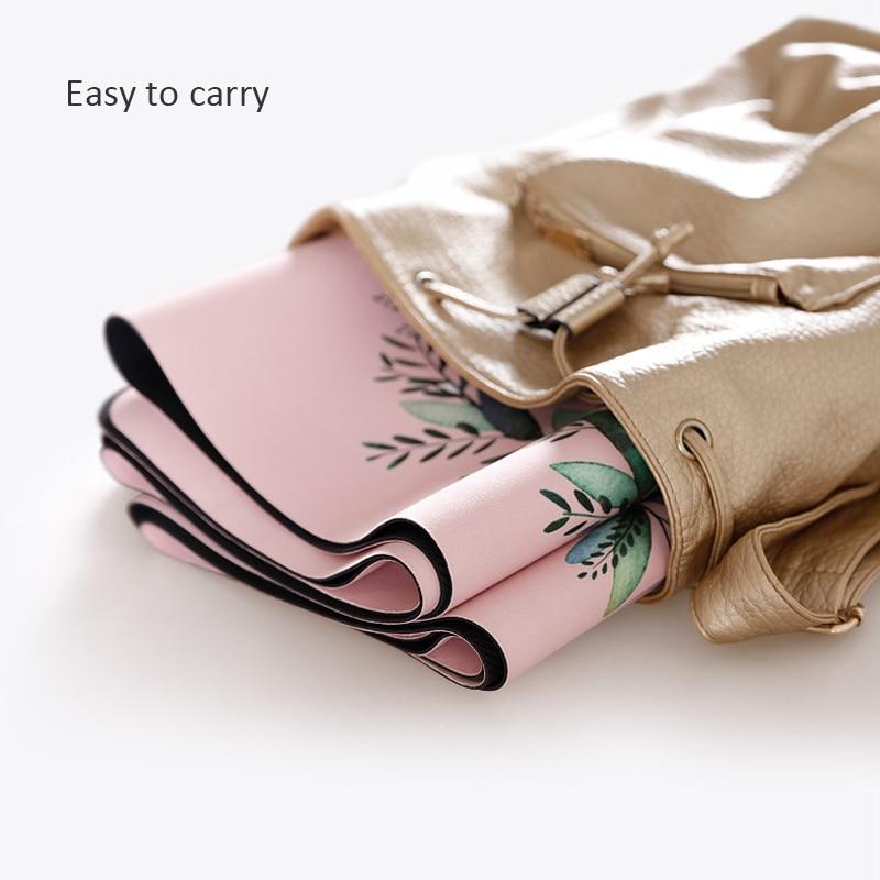 Portable  Yoga Mat Printing Ultra-thin Folding Non-slip Cloth Sweat-absorbent Towel Travel  Pilates  Pad 3