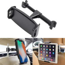 цена на Universal 4-11 Car Back Seat Phone Tablet Holder For iPhone Samsung iPad 360 Degree Rotation Car Mount Headrest Bracket Stand