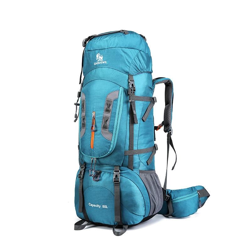 Hiking Backpacks Support Travel-Bag 80L Aluminum-Alloy Camping Superlight Nylon Big