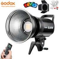 Godox SL60W Led Luz de vídeo 5600K 60W CRI 95 + montaje Bowens con control remoto y BD-04 Puerta de Granero rejilla de nido de abeja 4 filtros de Color