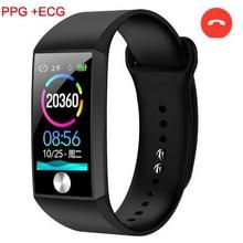 S28 smart bracelet heart rate blood pressure ECG watch Men Waterproof fitness tracker Sport Wristband PK miband 4