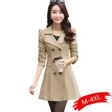 Spring Autumn Trench Coats For Women Slim Wild Medium Length Female Windbreaker