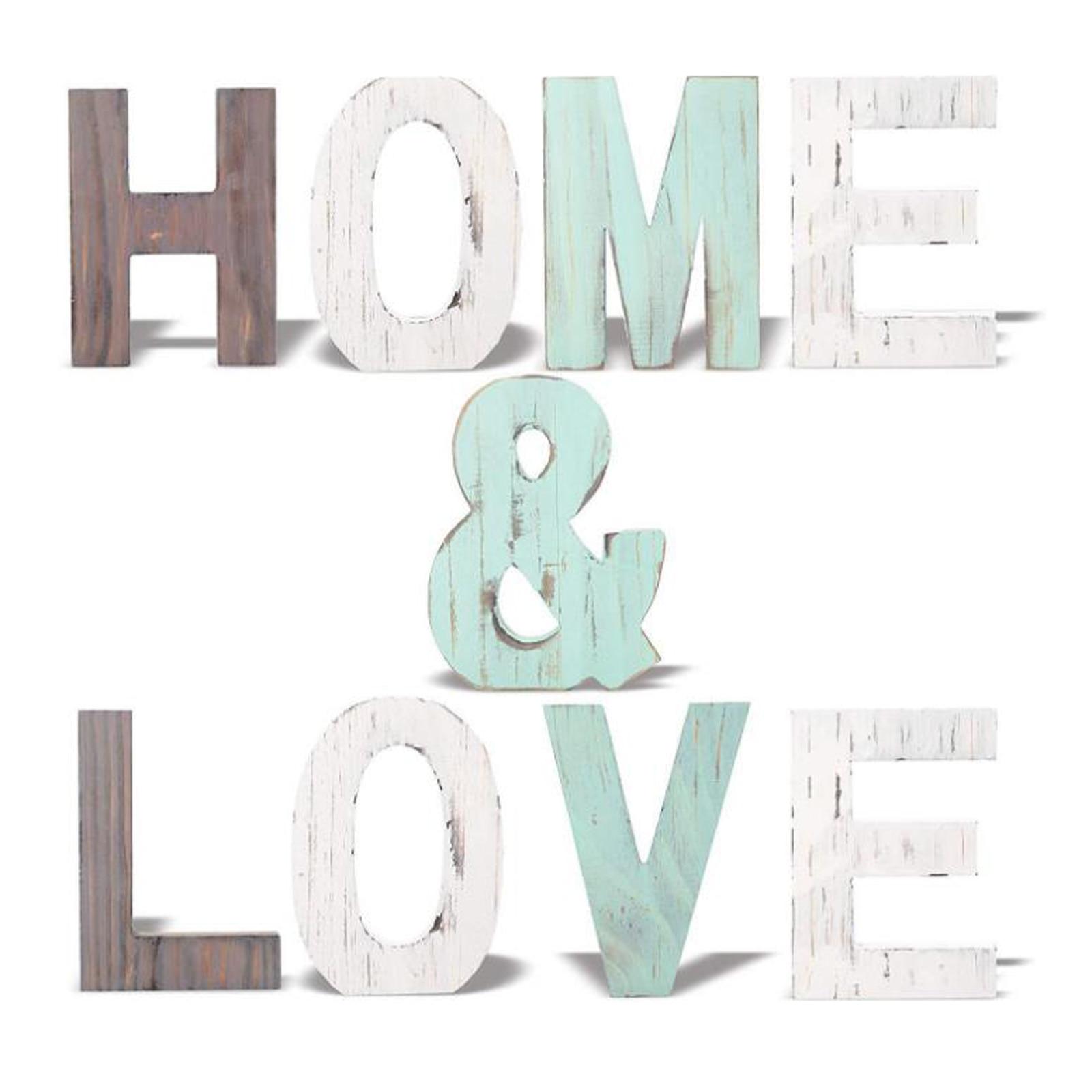 Diy креативные антикварные деревянные английские алфавитные украшения ретро декоративные настольные украшения