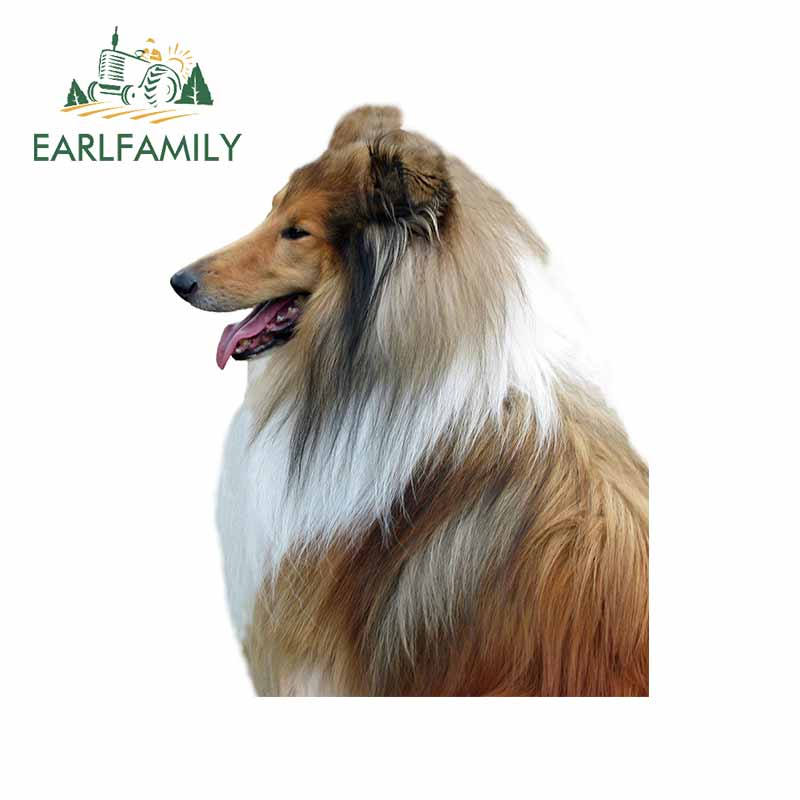 EARLFAMILY 13cm x 10.5cm for Dog Rough Collie Car Stickers and Decals Vinyl Personality Scratch-proof Decals 3D Window Car Wrap