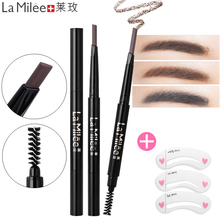 LAMILEE Brand Eye Brow Tint Cosmetics Natural Long Lasting Paint Tattoo Eyebrow Waterproof Black Brown Pencil Makeup Set