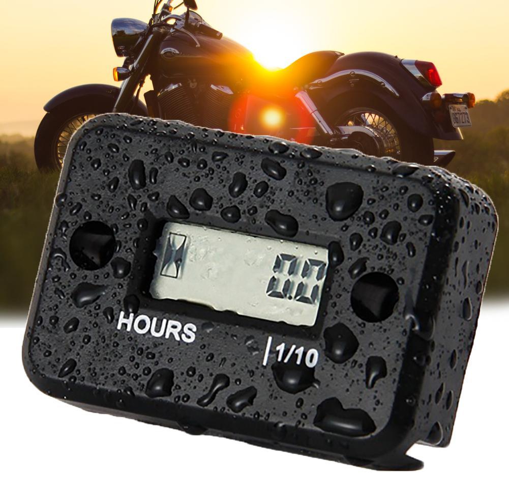 Dirt Bike ATV Motorbike Motorcycle Hour Meter Waterproof Digital LCD Counter  Hot Drop Shipping