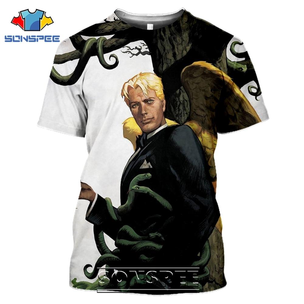 SONSPEE T-shirts Lucifer Morningstar 3D Print Men Women Casual Fashion Hip Hop Short Sleeve Streetwear Devil Tees Tops Shirt (10)