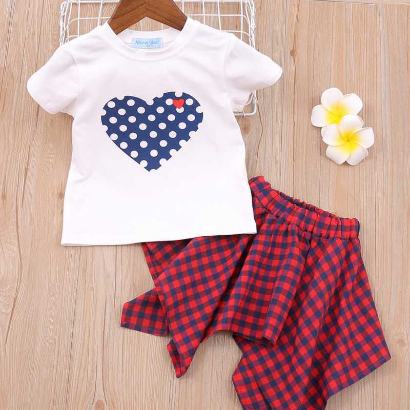 Hf47a4931e8e94e1394b96e7c268c8552d Humor Bear Girls Clothing Set 2020 Korean Summer New Ice Cream Bow T-shirt+Pants Kids Suit Toddler Baby Children's Clothes