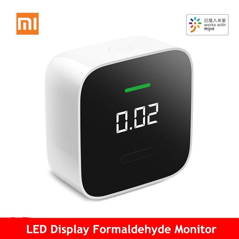 Xiaomi LED affichage formaldéhyde moniteur faible consommation d'énergie détection précise Mornitoring Mijia APP contrôle pour le bureau à domicile