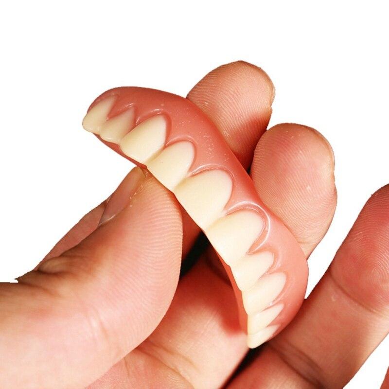 False Tooth Stickers Simulation Teeth Whitening Dentures Paste Braces Veneers Upper Lower Cover Beauty Tool