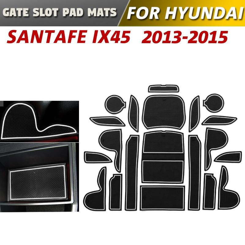 Car Door Nut Anti Slip Pad Compatible With Hyundai Kona 2018 2019 Car Interior Water Cup Storage Box Non-Slip Mat Rubber Mat Non-Slip Mats Color : Green