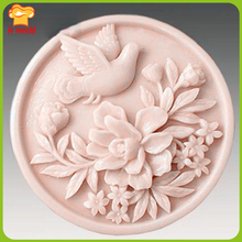 LXYY Peace Pigeon Soap Mold  Silicone Handmade Free Candle
