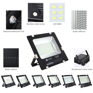 Image 3 - LIFELONG WARRANTY 500w led Floodlight ip65 Waterproof Outdoor led Flood Lights Daylight White AC170 245V led Spotlights