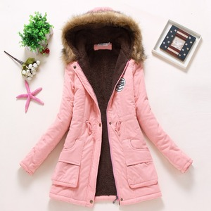 Image 5 - new winter military coats women cotton wadded hooded jacket medium long casual parka thickness plus size XXXL quilt snow outwear
