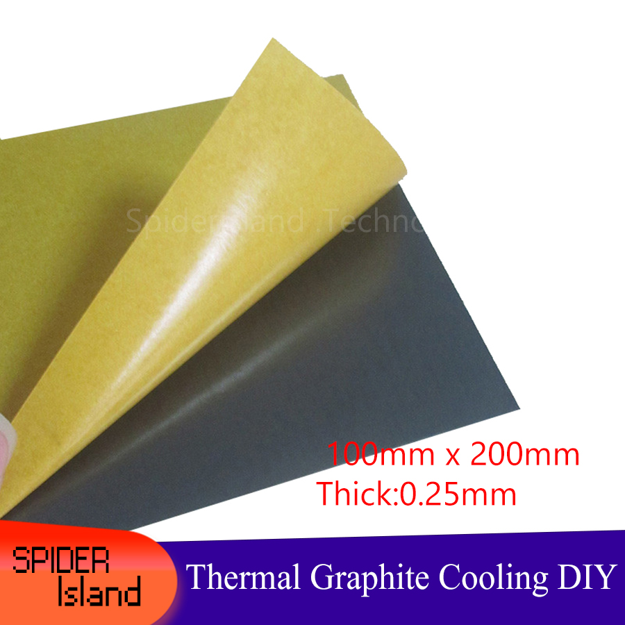 100 X 200 X 0.25mm Thermal Conductivity Material Natural Graphite Film Paste Graphite Sheet Graphite Cooling Film