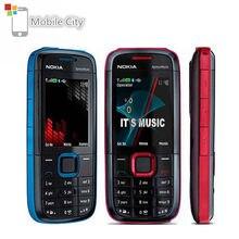 Nokia – téléphone portable 5130 XpressMusic, débloqué, FM, clavier utilisé, anglais, russe, hébreu, arabe