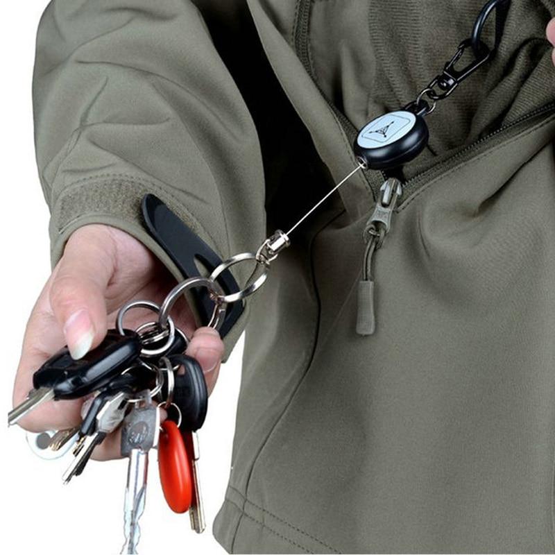 multi tool keyring key ring retract pull belt rope cord reel recoil badge lanyard clip multitool keychain key chain holder(China)