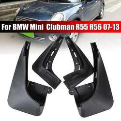 4 sztuk/zestaw PP czarne błotniki błotniki błotniki błotniki dla BMW Mini Clubman R55 R56 07-13