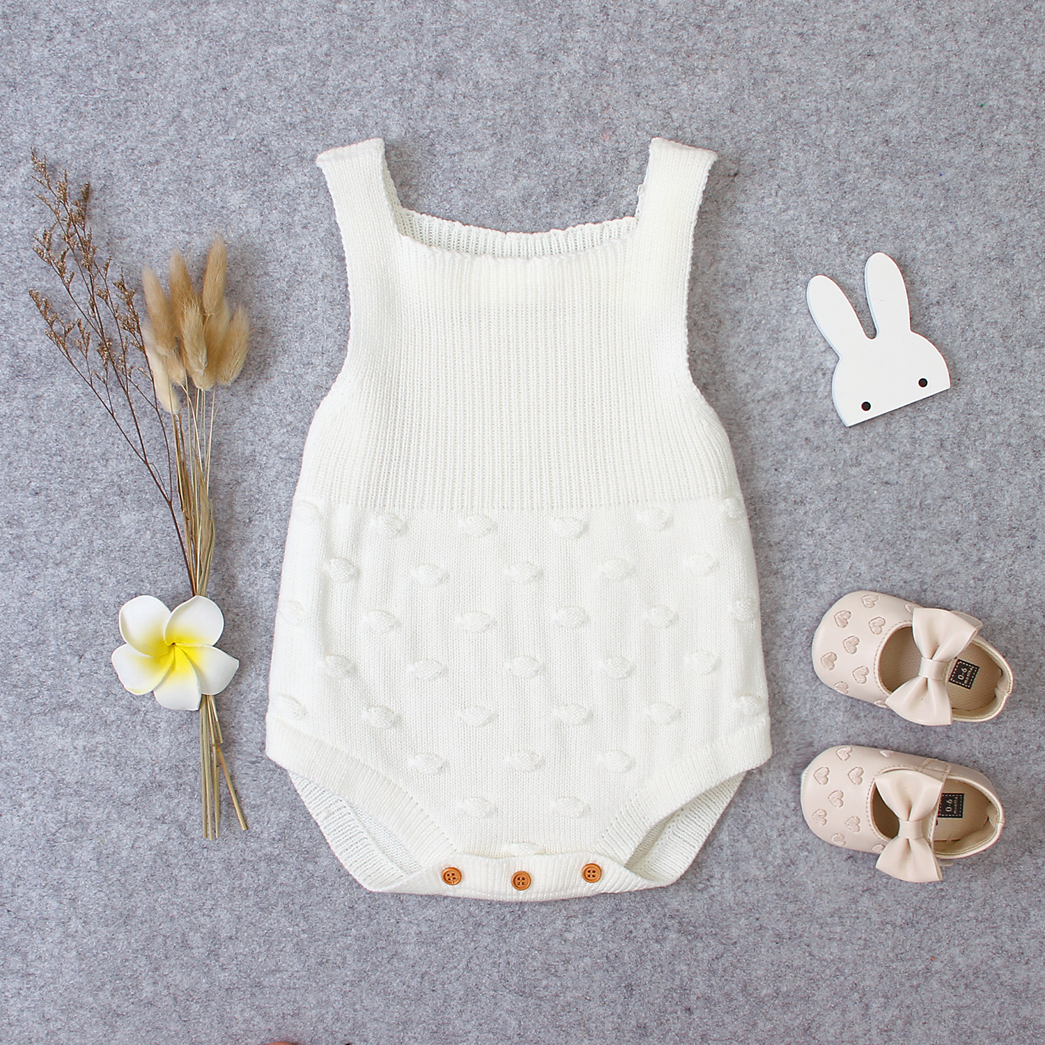 Newborn Baby Bodysuits One-Pieces Infant Boys Girls Sleeveless Jumpsuits Fashion Solid Knitted Toddler Body Tops Autumn Clothing