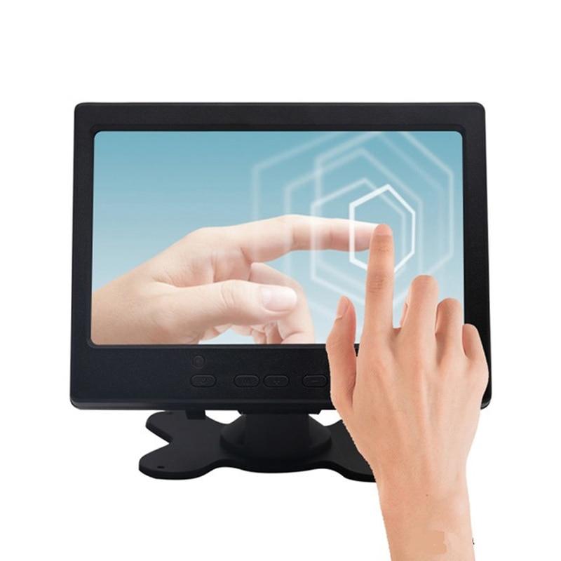 Monitor pequeño para coche, pantalla táctil LCD TFT de 7 pulgadas, 1024x600, para Raspberry Pi CCTV, HDMI, VGA, AV, marcha atrás