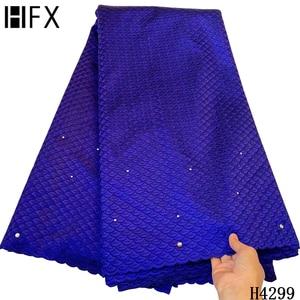 HFX кружевная ткань швейцарская вуаль кружевная ткань 100% хлопок с камнями швейцарская Вуаль в Sitzerland для Дубая кружева 5 ярдов ткани