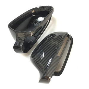 Image 4 - For Audi A4 B8 A6 C6 A5 8T Q3 A3 8P Real Carbon Fiber Mirror Cover Rearview Side Mirror Cap S Line