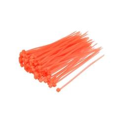 uxcell 300pcs Cable Zip Ties 100mmx2.5mm Self-Locking Nylon Tie Wraps Orange Single-use Locking Flexible Cable Tie