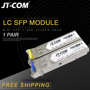 1Pair 1.25G SM BiDi LC Gigabit SFP Module 1310nm/1550nm 3-80km Fiber Optic Transceiver sfp switch Compatible with Mikrotik/Cisco(China)