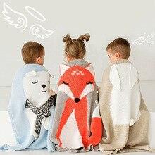 睡眠毛布編みベビー毛布新生児幼児ベビーおくるみニット毛布ベビー新生児 3D ぬいぐるみニットおくるみ