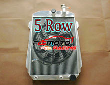 Radiador de aluminio de 5 filas, ventilador para Chevy Hot/Street Rod 350 5,7 V8 con enfriador Tranny 1939 AT/KIT MT 39 5.7L