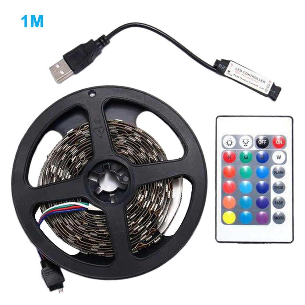 1-5M 5050 5v Waterproof Easy Install Computer Decor LED Strip Lights Accessories Backlighting RGB USB With Remote Control