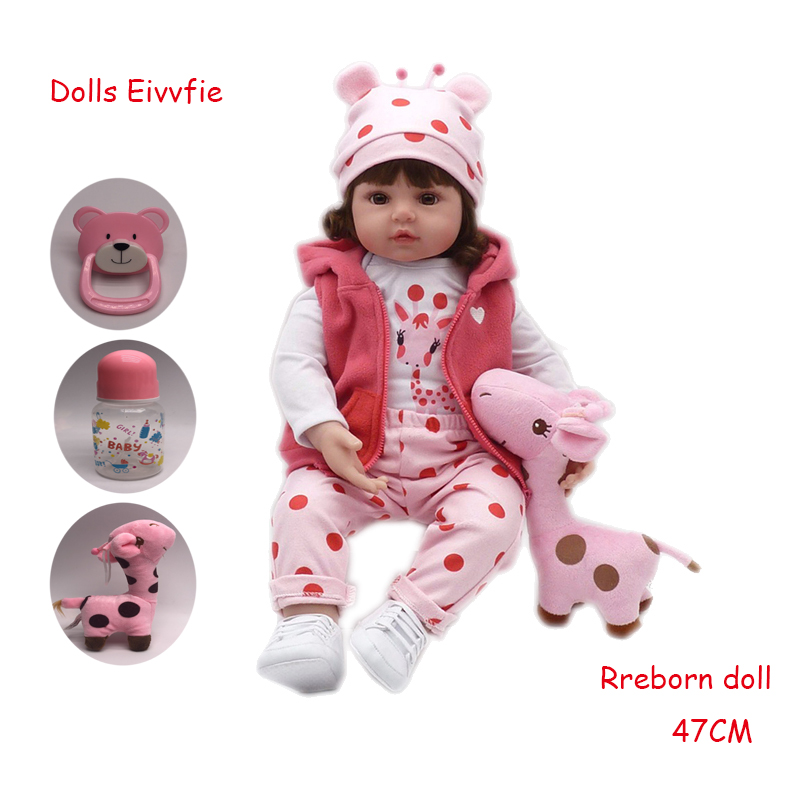 bebe reborn19inch 48cm lifelike doll baby newborn wholesale toys for children Christmas gift and birthday gift doll toys-in Dolls from Toys & Hobbies