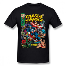 Captain America T Shirt Comic -112 T-Shirt Short Sleeve Fashion Tee Male Printed Fun 100 Cotton Tshirt