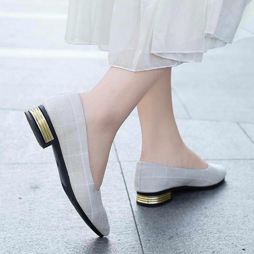 Jaycosin Mới Thời Trang Cho Nữ Nữ Cho Nữ Giày Vải Thương Hiệu Thiết Kế Đế Phẳng Ba Lê Giày Giày Công Chúa