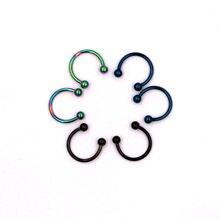 Партия 3 пары 16g круглый шар перегородка для губ носа кольцо