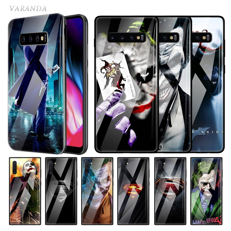 Joker Batman Glass Case For Samsung Galaxy S20 S10 5G S10e S9 S8 Plus Note 10 9 8 Tempered Phone Coque Fundas image