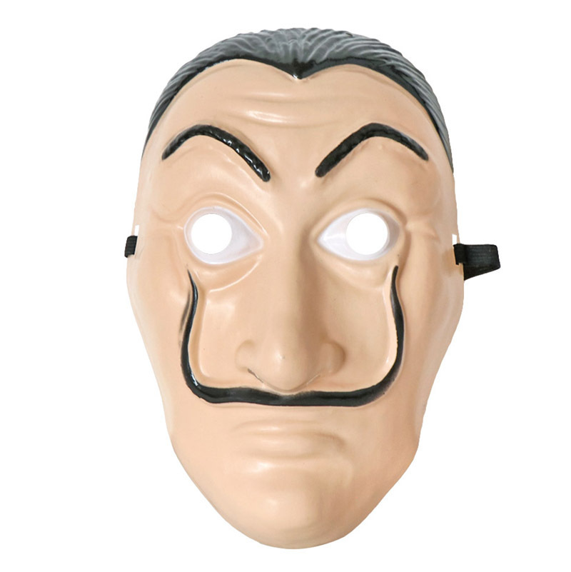 La Casa De Papel House Of Cards Cosplay Props Dali Masque Halloween Party Money Heist Role Playing Plastic Masks